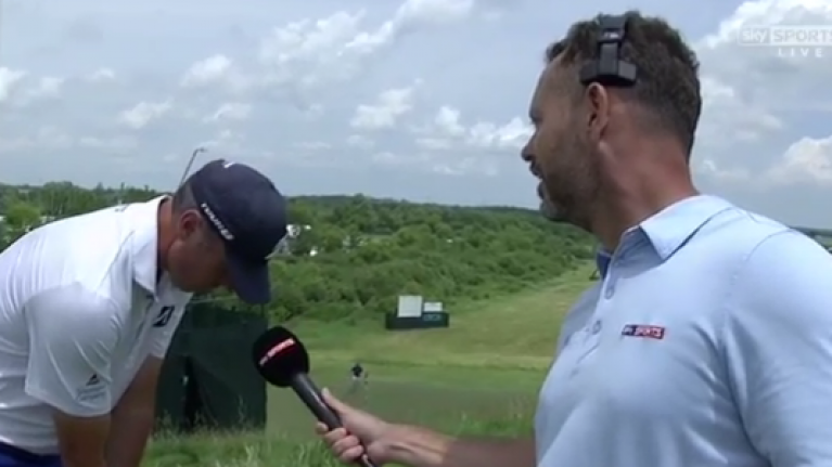 WATCH: The most awkward piece of television ever inspired by Matt Kuchar