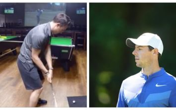 Sligo man impresses Rory McIlroy with a trick shot that looks far easier than it is