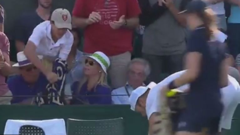 What kind of arsehole steals a memento from a kid at Wimbledon?