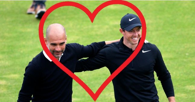 Rory McIlroy and Pep Guardiola have started an unlikely friendship