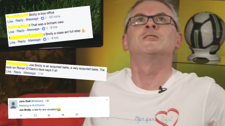 WATCH: Joe Brolly's 'box office' interview last night has divided opinion