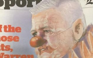 Warren Gatland celebrates draw with clown stunt at press conference