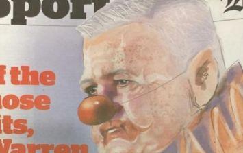 Warren Gatland celebrates draw with clown stunt at press conference