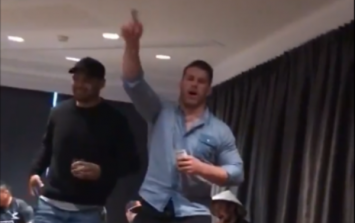 Sean O'Brien belting out a Westlife classic with Lions team-mates is just brilliant