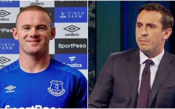 Gary Neville paid Wayne Rooney the highest possible praise upon his departure