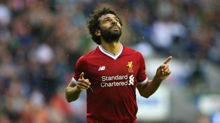 "Mo Salah rolls out the ""I always wanted to play for Liverpool"" line and fans aren't buying it"
