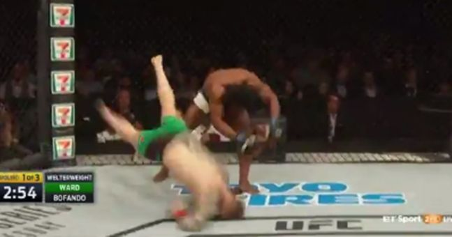 Conor McGregor's teammate knocked out by a throw at UFC Glasgow