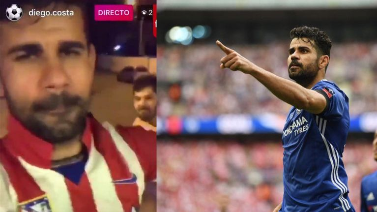 Diego Costa hints at his next move with live broadcast from Brazilian house party