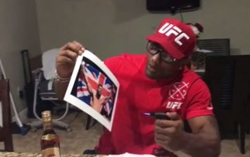 Yoel Romero burns picture of Michael Bisping and Union Jack as revenge