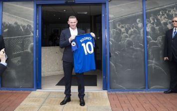 Wayne Rooney's first goal since return to Everton was a little bit scary