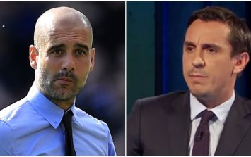 Pep Guardiola issues very passive aggressive response to Gary Neville's criticism