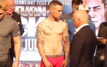 Carl Frampton's reaction to missing weight says it all