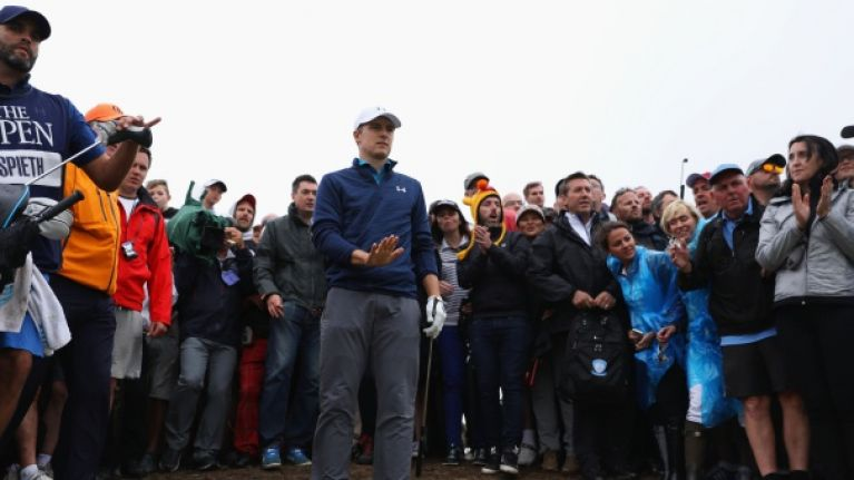 Jordan Spieth absolute gentleman even during meltdown