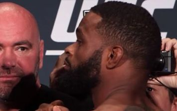 Dana White and Tyron Woodley's dispute swiftly resolved following fighter's threat