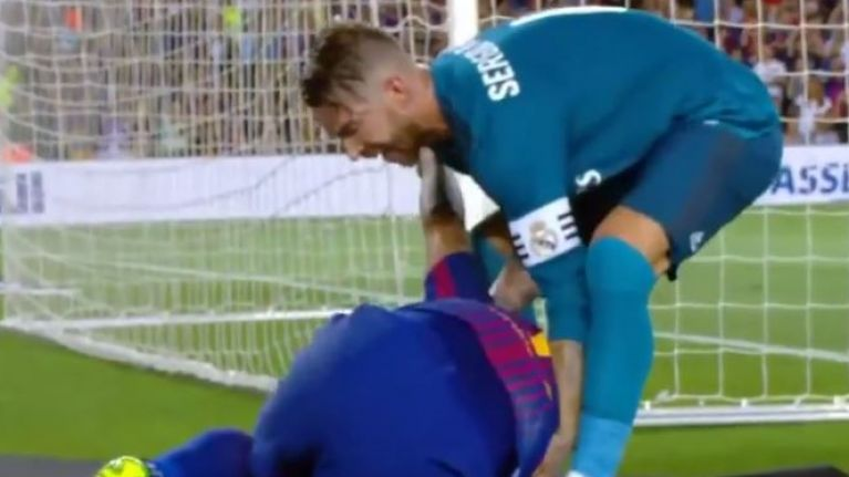 Five seconds that perfectly sum up dark sides of Luis Suarez and Sergio Ramos