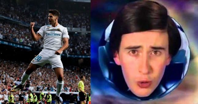 WATCH: Marco Asensio's El Clasico wonder goal is even better with Alan Partridge commentary