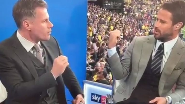 Jamie Redknapp and Jamie Carragher got into a heated debate about Liverpool's defence