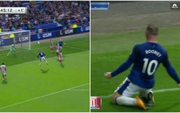 Incredible scenes as Wayne Rooney scores on return to Everton
