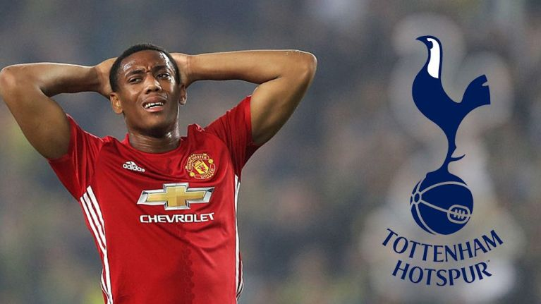 Tottenham Hotspur have reportedly bid for Manchester United's Anthony Martial