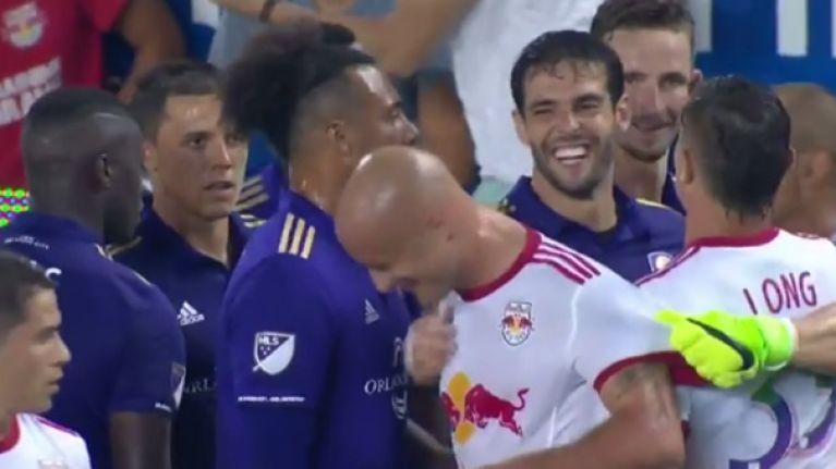 Kaka receives bizarre red card after VAR used to punish joke
