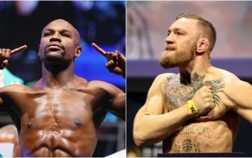 WATCH: Conor McGregor and Floyd Mayweather weigh in and face off