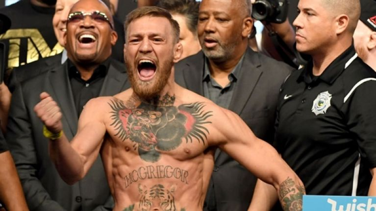 Conor McGregor s boxing boots are absolutely savage 1 year ago 69da77fbb