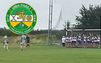 Offaly stalwart scores one of those frees that never get scored