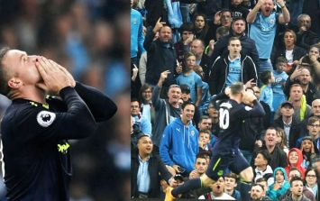 Wayne Rooney couldn't resist tweeting Manchester City fans after his goal at the Etihad