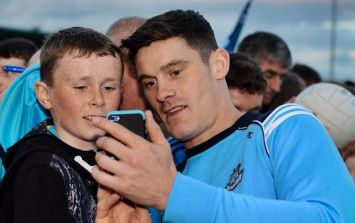 Queue of young Dublin fans for Diarmuid Connolly's autograph was truly incredible
