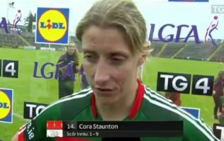 The only thing better than Cora Staunton's scoring tally is her breathless interview