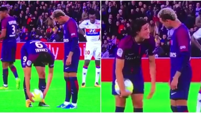 Neymar embarrassed himself during penalty dispute with Edinson Cavani