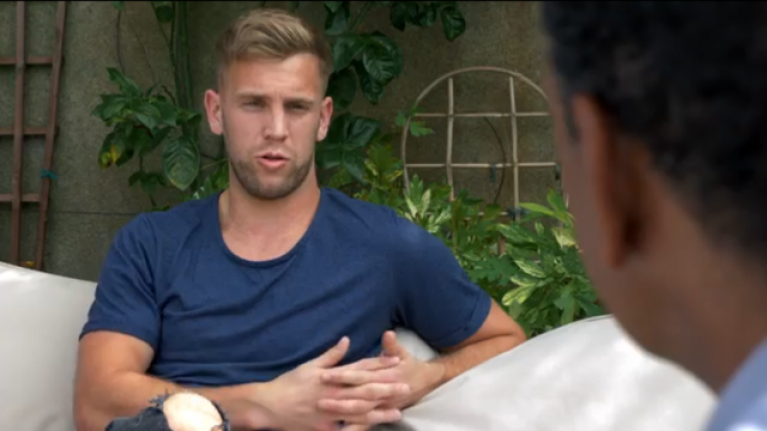 Jonny Cooper does his best to scare Chris Kamara ahead of All-Ireland final
