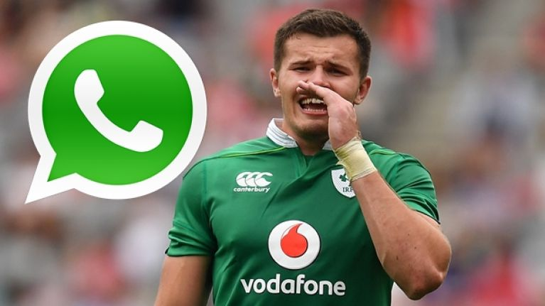 Jacob Stockdale had an awful cruel way of letting his family know about his Ireland debut