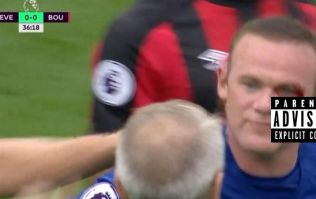 Bournemouth defender leaves Wayne Rooney with a horrific cut during Everton win
