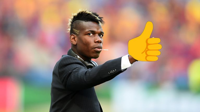 Twitter has a field day with the #Pogba emoji after his handball nightmare against Liverpool