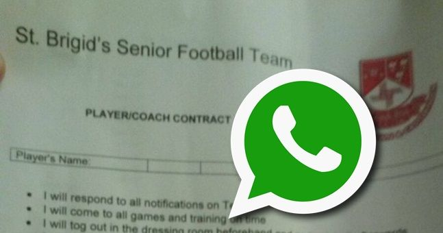 How the leaked St. Brigid's contract could've went down on the club WhatsApp
