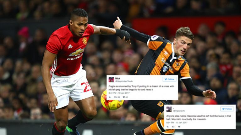 Antonio Valencia crossed the ball with his left foot and everyone freaked out