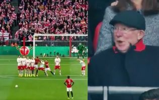 Alex Ferguson's reaction to Zlatan Ibrahimovic's free-kick was priceless