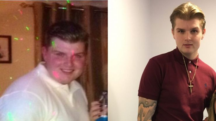 Former semi-pro footballer shed eight stone after giving up fast food-heavy diet