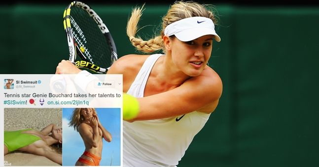 Eugenie Bouchard has the perfect response to critics of her Sports Illustrated shoot