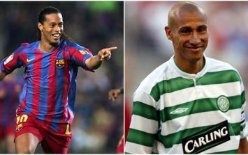 Ronaldinho's nickname for Henrik Larsson proves how great the former Celtic striker was