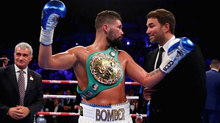 Tony Bellew denies he's homophobic as picture emerges of him posing in front of offensive flag