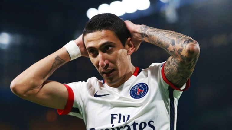 Angel Di Maria must be regretting taunting Barcelona fans after Edinson Cavani's goal