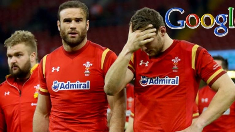 People believe Google are having a dig at Wales' disappointing Six Nations