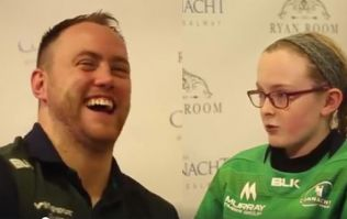 WATCH: Connacht star wasn't prepared for this gas interview with a 12-year-old girl