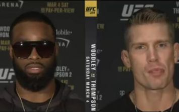 WATCH: The incredibly tense Tyron Woodley-Stephen Thompson interview that everyone's talking about