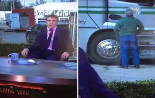 WATCH: Punter caught literally taking the piss at Cheltenham this morning