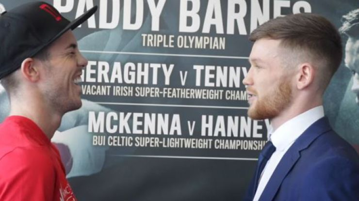 WATCH: Irish boxers engage in friendliest pre-fight staredown ever ahead of title fight
