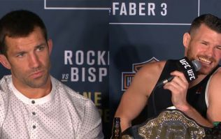 Michael Bisping responds brilliantly to Luke Rockhold's unintentionally suggestive call-out