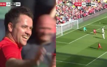 WATCH: Not even scoring in a Liverpool shirt stops Michael Owen from being the butt of every joke